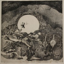 Nocturn - Etching - 18 in. x 18 in.