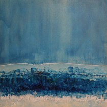 SOLD! Blue Tomorrow - 35 in. x 35 in.